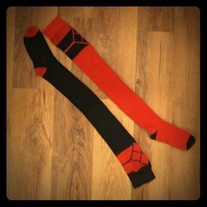 💙💙 Over thr knee Harley Quinn socks. 💙💙